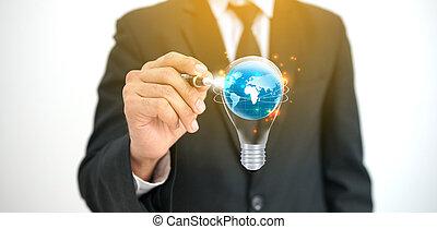 新しい, 概念, 考え, ビジネス, creativity.