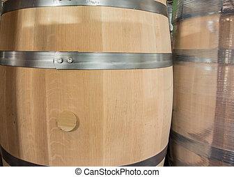 新しい, 樽, そして, 包まれた, 樽