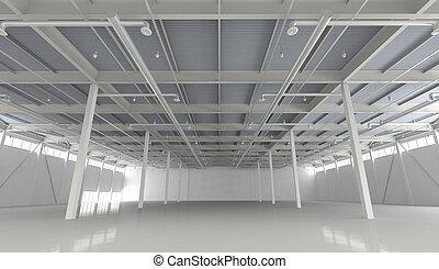 新しい, 現代, 空, 倉庫