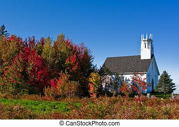 新しい, 秋, 教会, ブランズウィック