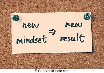 新しい, 結果, mindset
