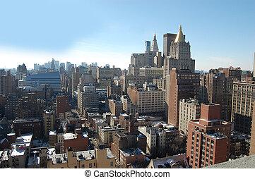 新しい, 航空写真, ヨーク, 日中, 都市