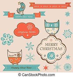 新しい, 要素, クリスマス, 年