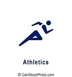 新しい, 運動競技, スポーツ, pictogram, icon.