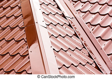 新しい, 金属, 屋根