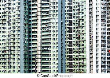 新しい, 香港, ハウジング, 公衆