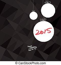 新しい, 2015, 年, カード