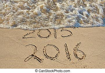 新しい, 2016, 浜, 年