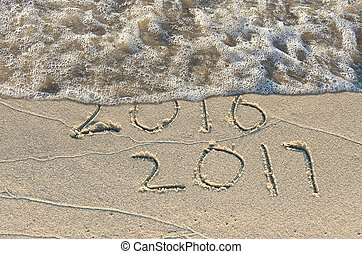 新しい, 2017, 浜, 年