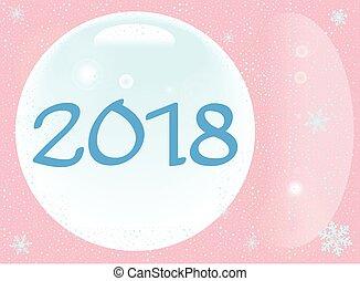 新しい, 2018, クリスマス, 年