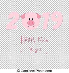 新しい, 2019, カード, 年