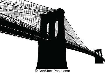 新しい, brooklyn, ヨーク, 橋