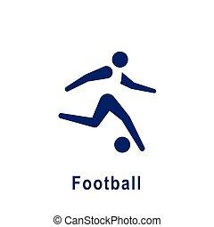 新しい, icon., スポーツ, pictogram, フットボール