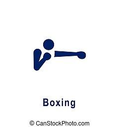 新しい, icon., スポーツ, pictogram, ボクシング