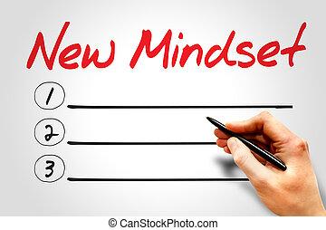 新しい, mindset