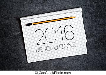 新しい, resolutions, 概念, 2016, 年