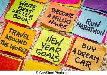 新しい, resolutions, unrealistic, 年