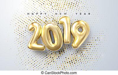 新しい, year., 2019, 幸せ