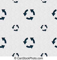 新たにしなさい, アイコン, 印。, seamless, パターン, ∥で∥, 幾何学的, texture.