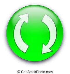 新たにしなさい, /, リサイクルしなさい, ボタン