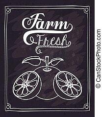 新たに農場で働きなさい, デザイン, 食物