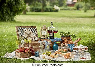 新たに農場で働きなさい, ピクニック, おいしい, 国