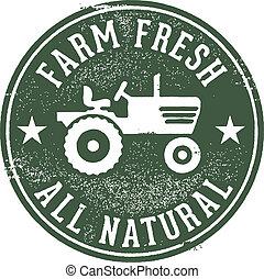 新たに農場で働きなさい, 自然, 切手