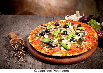 新たに, イタリア語, ピザ