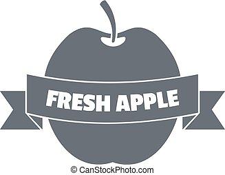 新たに, スタイル, アップル, ロゴ, 型