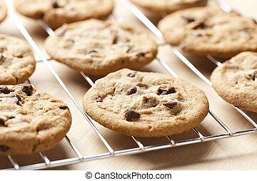 新たに, チップ, クッキー, チョコレート