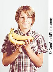 新たに, バナナ, 子供