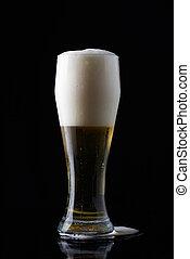 新たに, ビールガラス