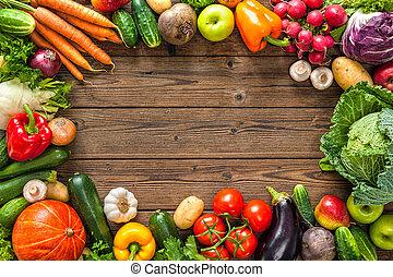 新たに, フレーム, 野菜, 分類される