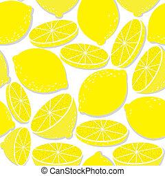 新たに, レモン, 隔離された, 白