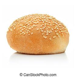 新たに, ローフ, 白, 隔離された, bread