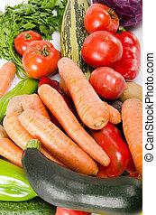 新たに, 各種組み合わせ, 野菜