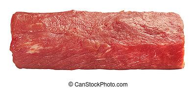 新たに, 小片, 肉, 未加工