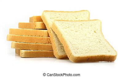 新たに, 白, 切口, 背景, bread