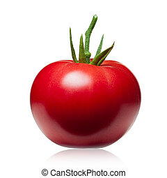 新たに, 白, 隔離された, トマト