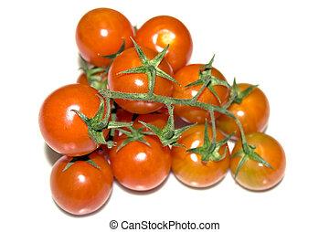 新たに, 赤いサクランボ, トマト