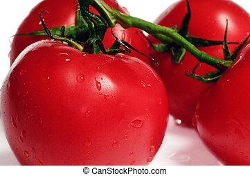 新たに, 赤いトマト, さくらんぼ