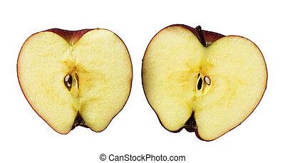 新たに, 赤いリンゴ, 切口