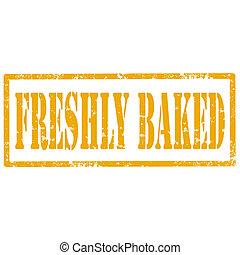 新たに, baked-stamp