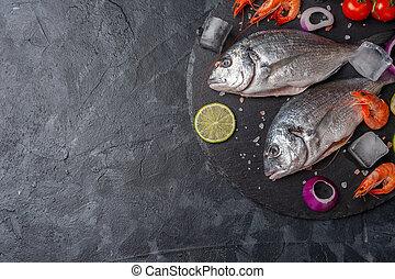 新たに, dorado, 魚, bord