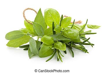 新たに, herbs.