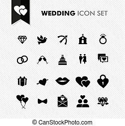 新たに, set., 結婚式, アイコン