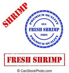 新たに, shrimp-stamp