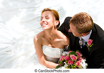 新娘, 夫妇, 新郎, -, 婚礼