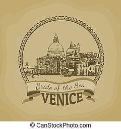 新娘, (, 威尼斯, sea), 海報