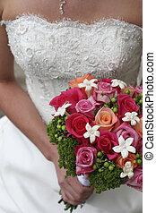 新娘, 握住花